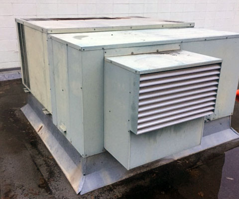 Old commercial HVAC unit